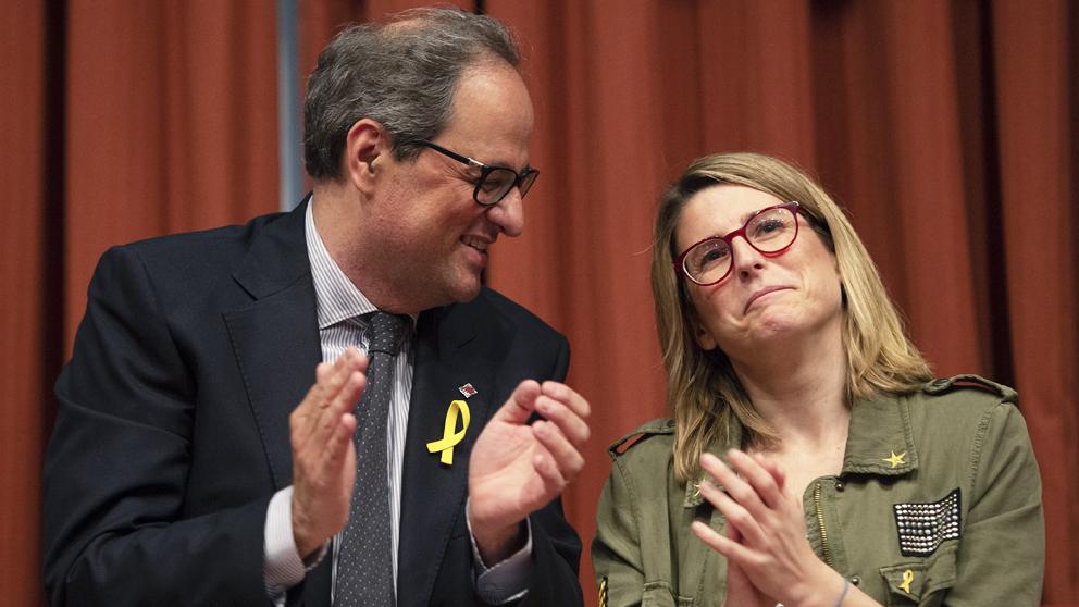 Quim Torra y Elsa Artadi. (Foto: AFP)