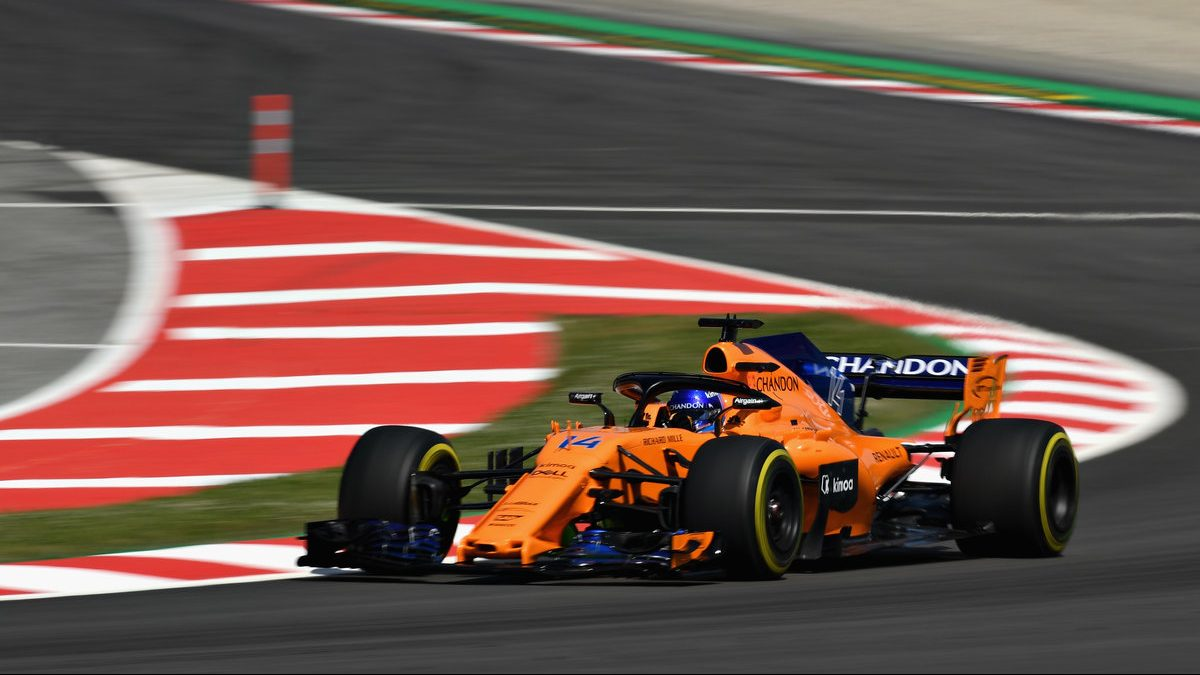 Fernando Alonso, en el Gran Premio de España.
