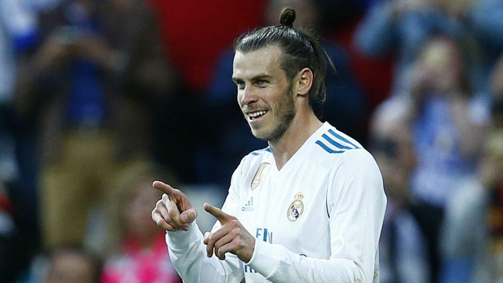 Gareth Bale celebra uno de los dos goles marcados ante el Celta (AFP).