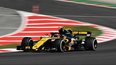 Carlos Sainz a bordo del Renault Fórmula 1