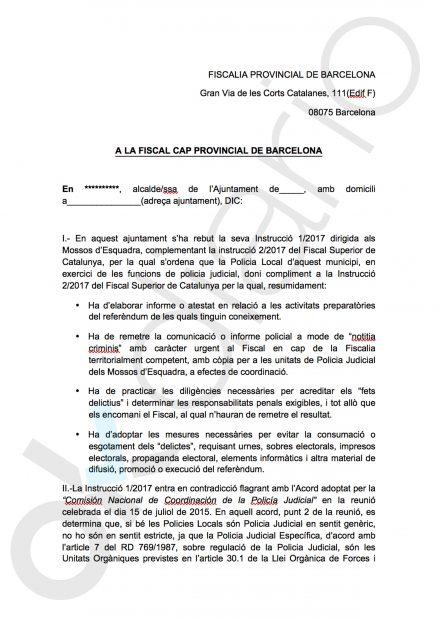 El futuro conseller de Interior alentó a la Policía Local a desobedecer las órdenes judiciales el 1-O