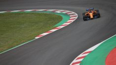 Fernando Alonso en acción con el McLaren MCL33