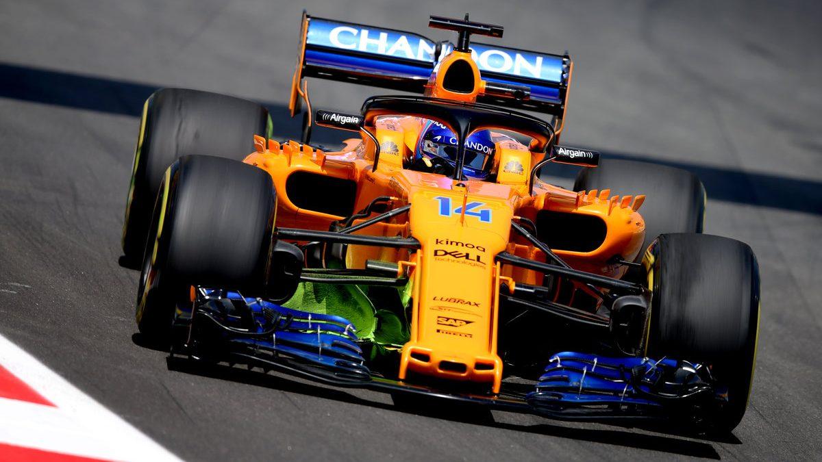 Fernando Alonso con el McLaren en el GP de España