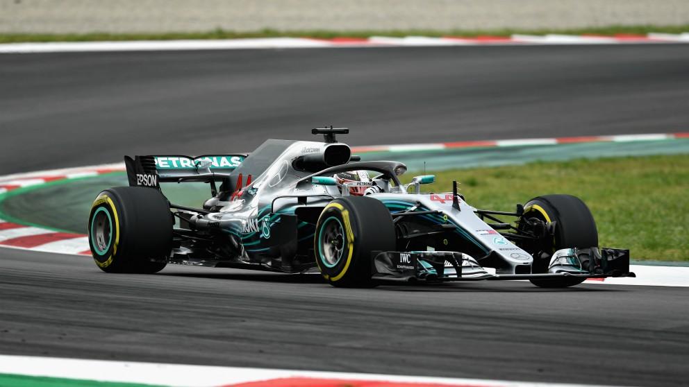 Lewis Hamilton, en el Gran Premio de España. (Getty)