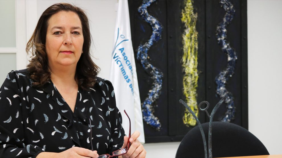 Maite Araluce, presidenta de la AVT. (Foto: EFE)