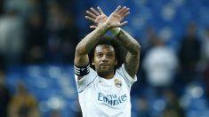 Marcelo durante un partido con el Real Madrid. (AFP)