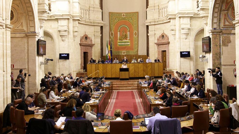 Pleno en el Parlamento de Andalucía. (Foto: @ParlamentoAnd)