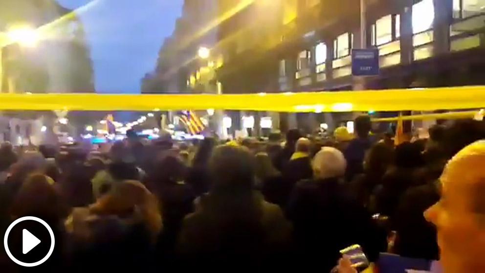 Vídeo grabado por Quim Torra durante el boicot al Rey en Barcelona.