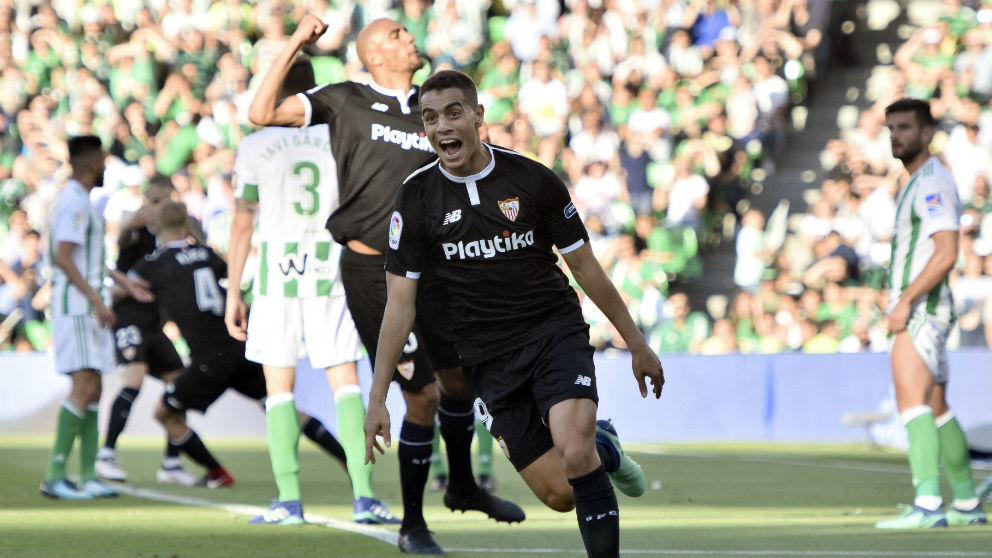 Ben Yedder celebra su gol frente al Betis. (EFE)