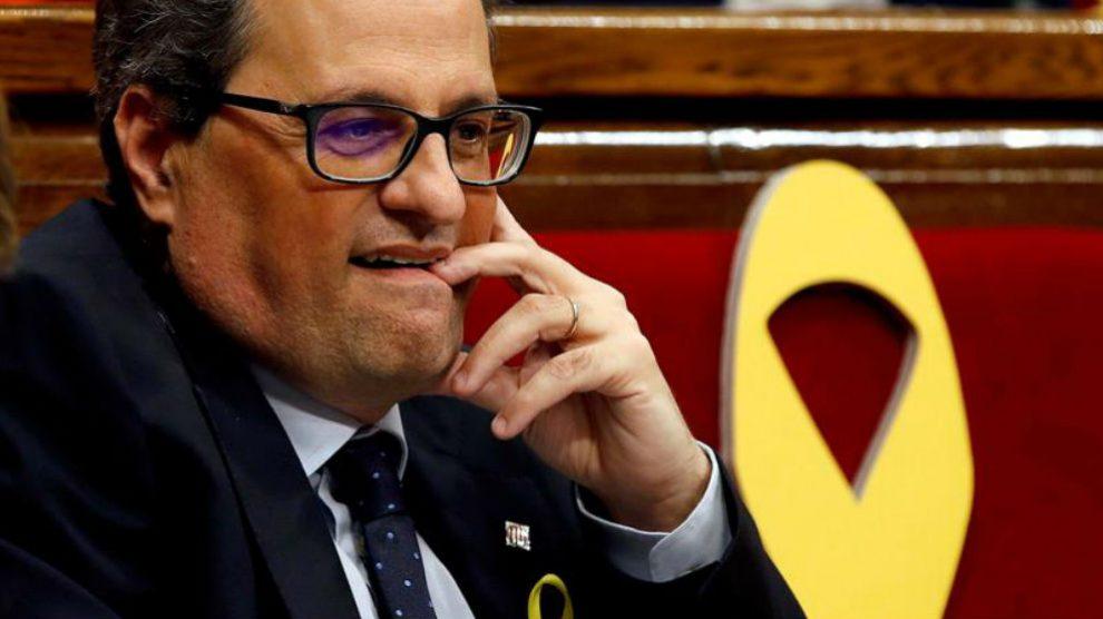 El president de la Generalitat, Quim Torra (Foto: EFE)