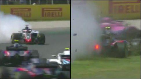 Así fue el accidente en Montmeló. (Cpatura de pantalla)