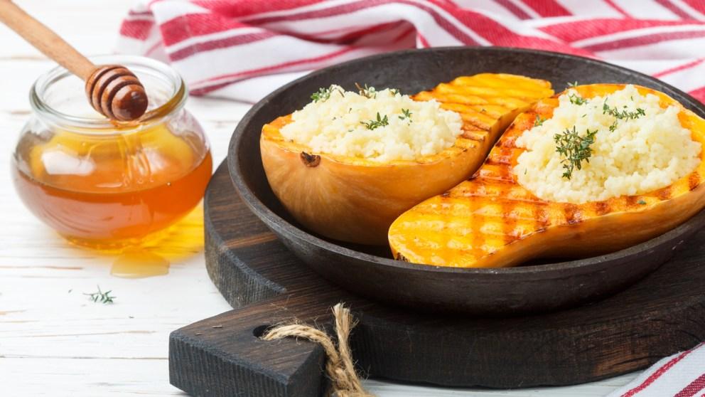 Receta de Calabaza rellena de carne picada fácil de preparar