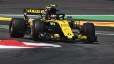 Carlos Sainz durante el Gran Premio de España. (AFP)