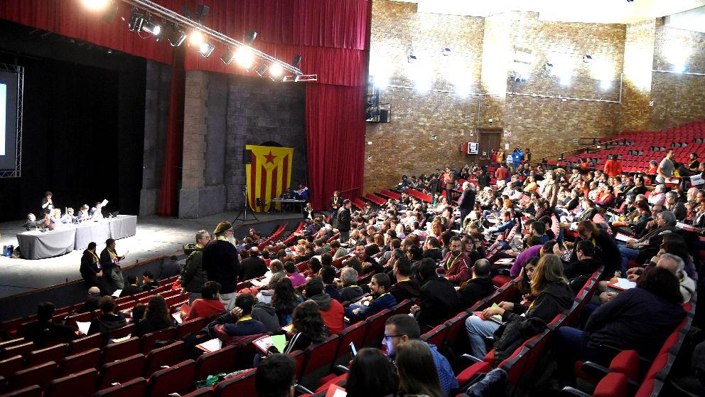 Imagen de una reunión del Consell Polític de la CUP (Foto: Efe).