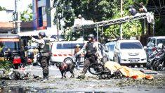 La imagen muestra los efectos de una de las explosiones (Foto: AFP).
