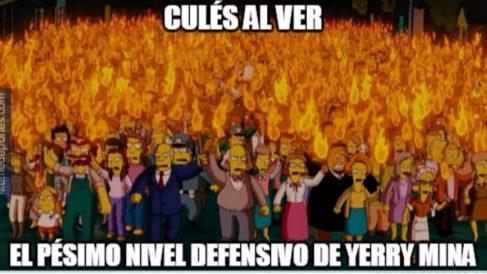 Los usuarios de las redes sociales se tomaron con humor la derrota del Barcelona en Valencia.