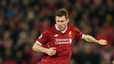 Milner durante un partido con el Liverpool. (AFP)