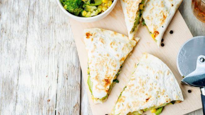 quesadilla con brócoli