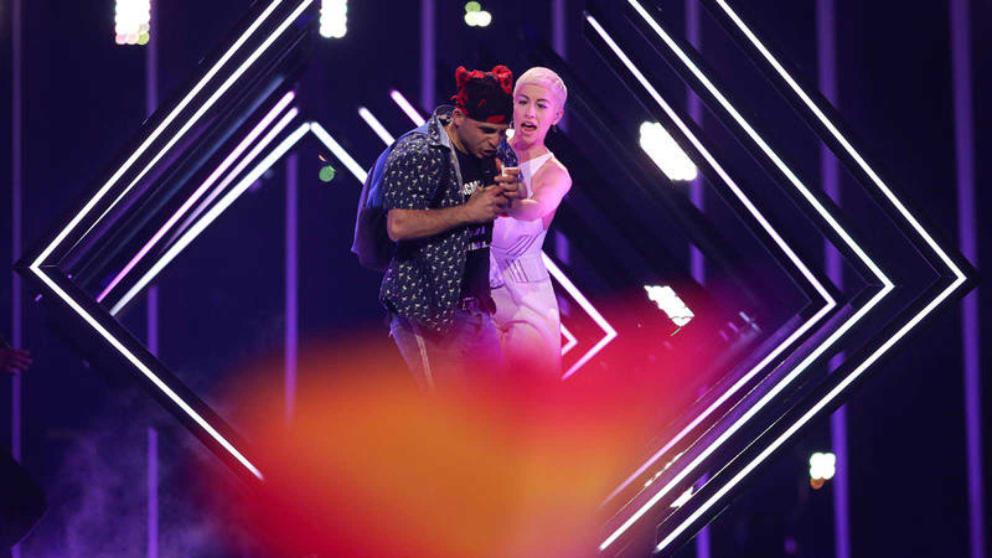 Un espontáneo en la actuación de Reino Unido en 'Eurovisión 2018'
