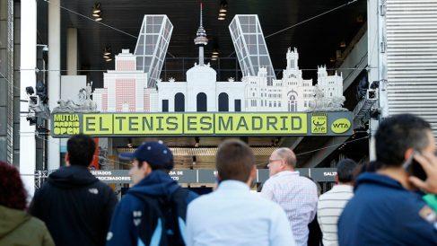 Una de las entradas de la Caja Mágica, durante la disputa del torneo. (Mutua Madrid Open)