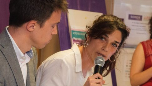Clara Serra junto a Íñigo Errejón. (Foto. Sí Madrid 2019)
