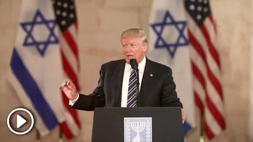 El presidente de EEUU, Donald Trump celebra la amistad de su país con Israel.
