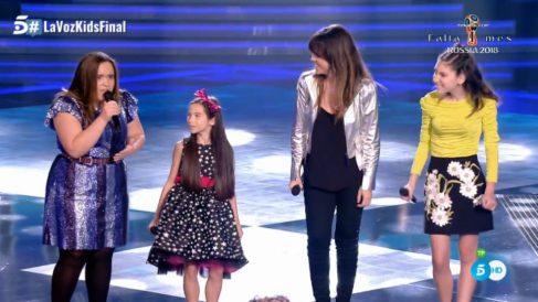El grupo de Melendi en 'La Voz Kids' con Vanessa Martín