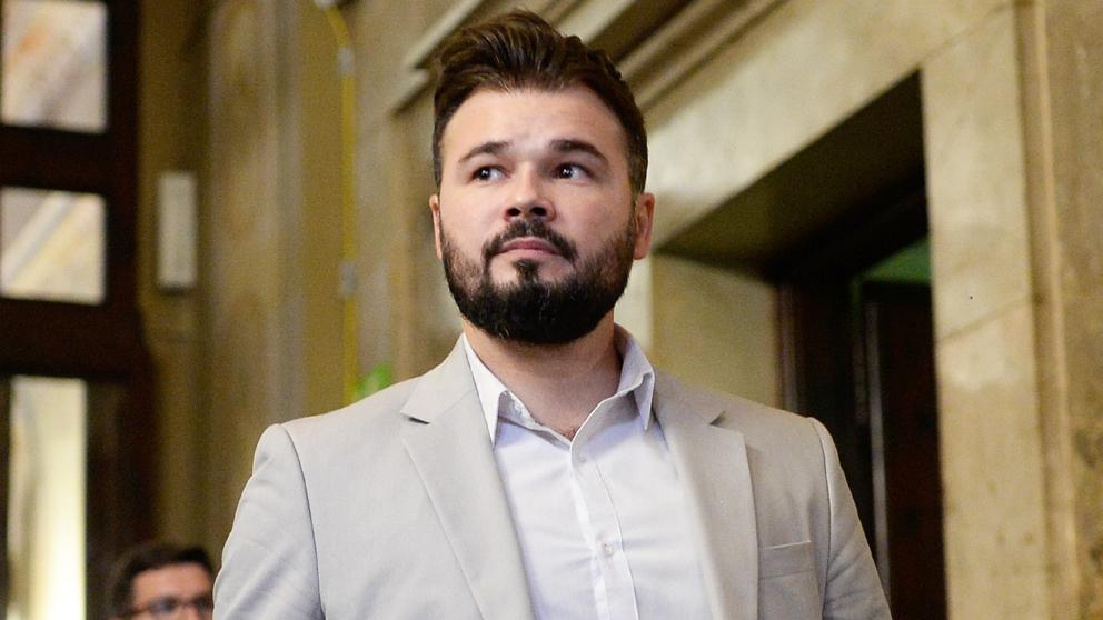 Gabriel Rufián, diputado de ERC. (Foto: AFP)