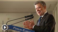 El presidente colombiano Juan Manuel Santos, en el Nueva Economía Fórum. (EFE)
