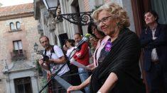 Manuela Carmena durante el pregón de San Isidro 2018. (Foto. Madrid)