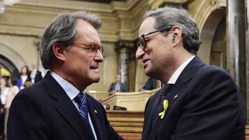 Artur Mas y Quim Torra. (Foto: AFP)