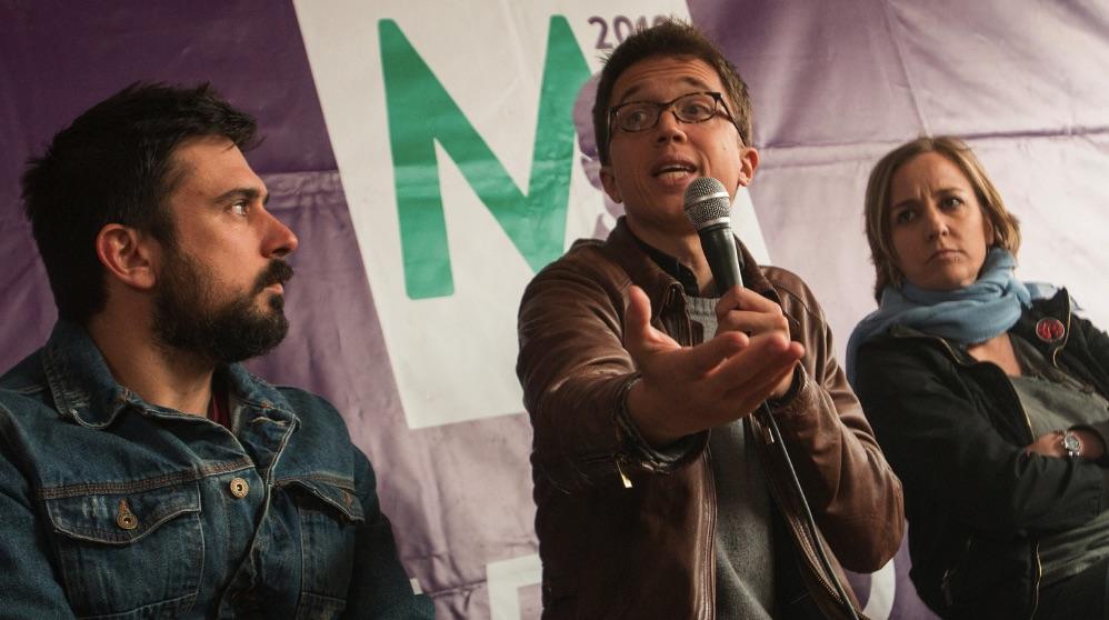 Ramón Espinar, Íñigo Errejón y Tania Sánchez. (Foto. Sí Madrid 2019)