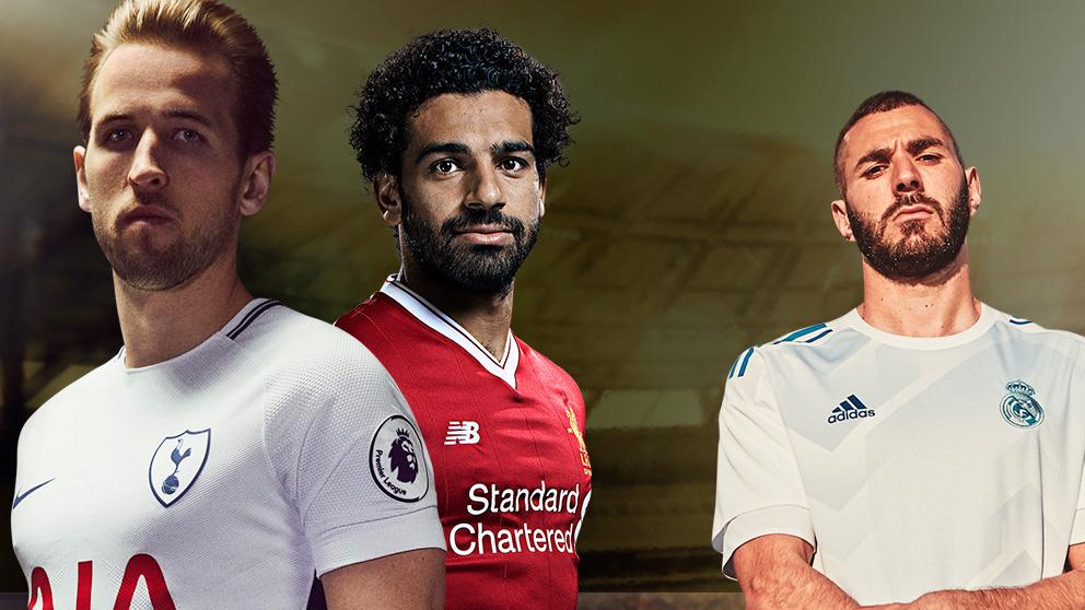 Salah y Kane retratan a Benzema.