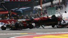 Los accidentes en las salidas de la Fórmula 1 son una constante cada temporada, dejándonos varias de las imágenes más impresionantes de toda la historia. (Getty)