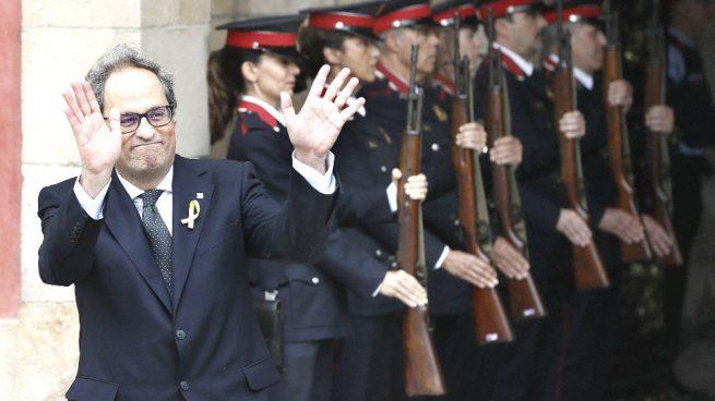 Los Mossos serán los encargados de retirar los lazos amarillos si lo ordena la Junta Electoral