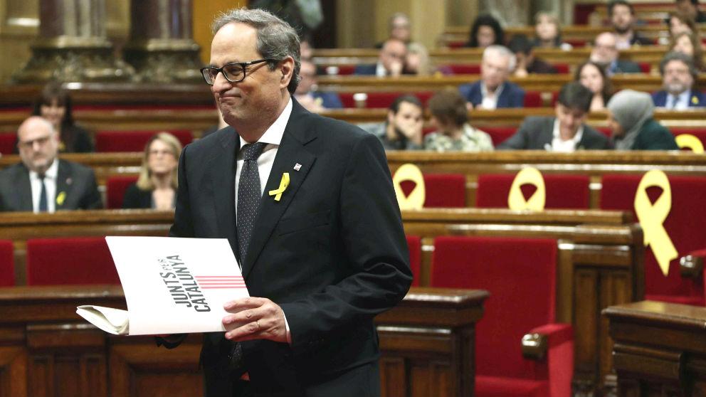 Quim Torra en el Parlament (Foto: Efe).