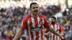 Vitolo ha entrado en la convocatoria del Atlético para la final de la Europa League. (AFP)