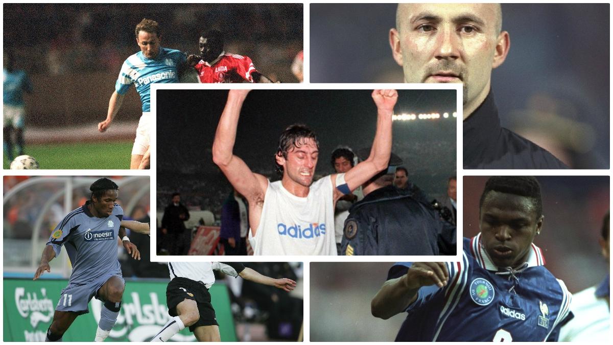 Los futbolistas históricos del Olympique de Marsella. (AFP, Getty Images…)