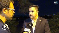 Juan David Vélez, congresista representante de los colombianos en el exterior, durante su entrevista con OKDIARIO. (Vídeo: E. Falcón)