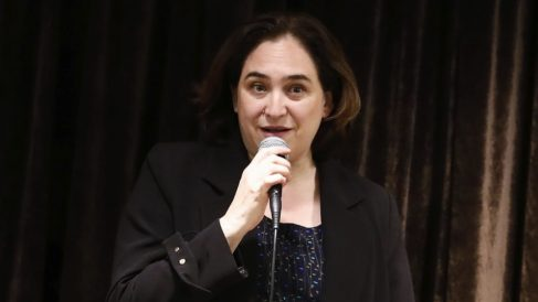 Ada Colau hablando. (Foto. Barcelona)