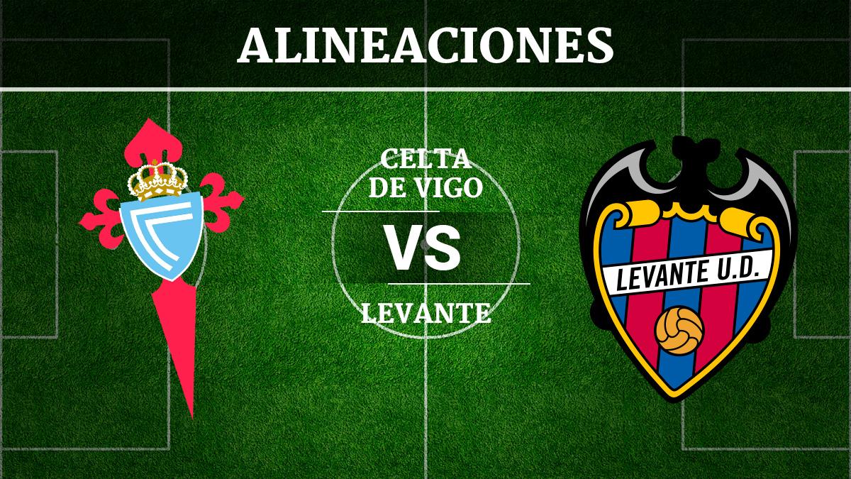 Consulta las posibles alineaciones del Celta de Vigo vs Levante.