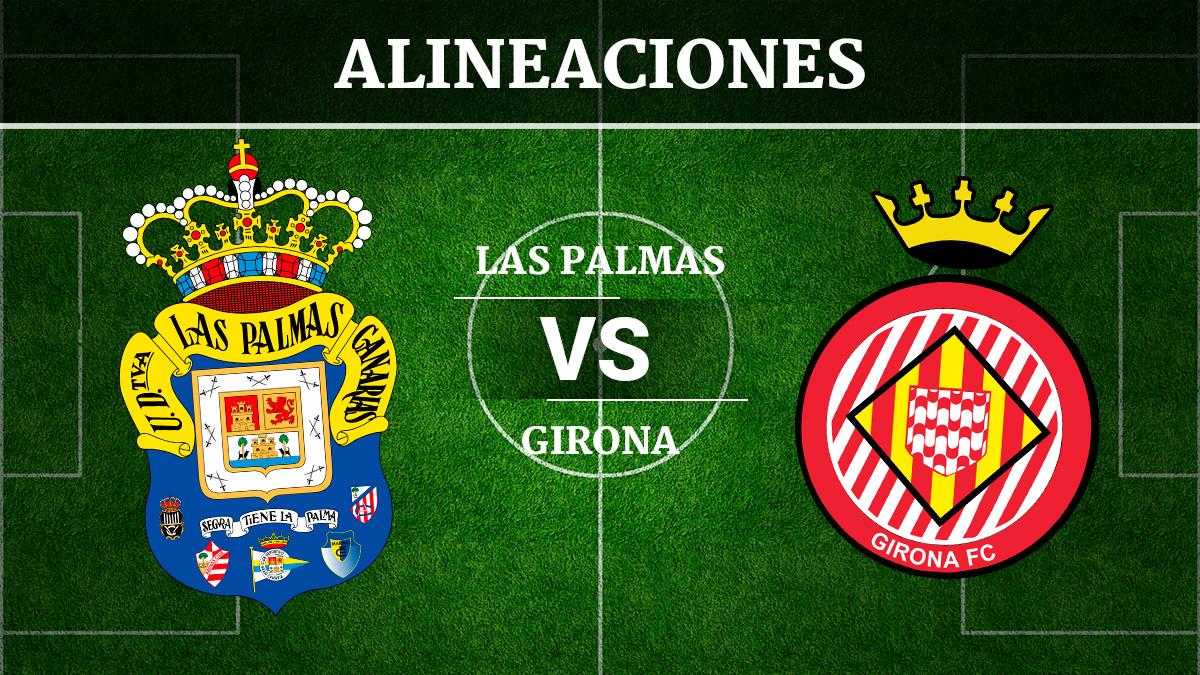 Consulta las posibles alineaciones del Las Palmas vs Girona.