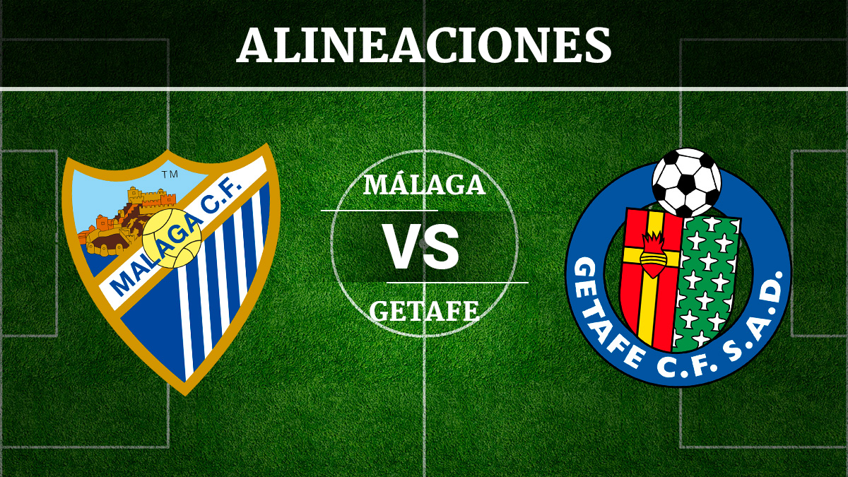 Consulta las posibles alineaciones del Málaga vs Getafe.