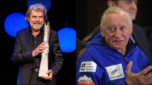 Los alpinistas Reinhold Messner y Krzysztof Wielicki, premio Princesa de Asturias de los Deportes 2018.