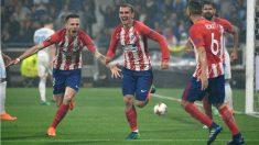 El Atlético celebra un gol. (AFP)