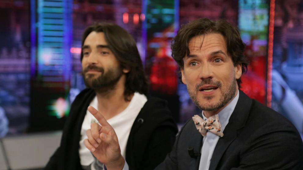 Los actores Aitor Luna y Daniel Grau en 'El Hormiguero'