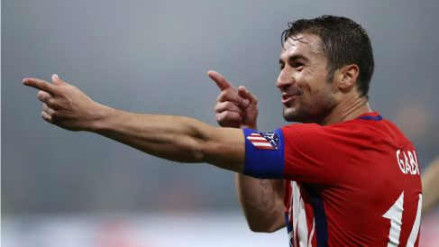Gabi celebra su gol en la final de la Europa League. (Getty)