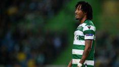 Gelson Martins durante un partido con el Sporting. (Getty)
