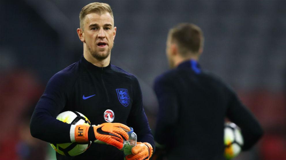 Joe Hart, ante de un partido con Inglaterra. (Getty) | Mundial 2018 | Selección de Inglaterra.