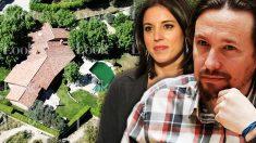 Pablo Iglesias e Irene Montero con su nuevo casoplón de fondo. / LOOK